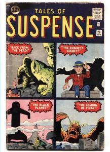 Tales Of Suspense #28 1961-STONE MEN prototype-kirby ditko G/VG