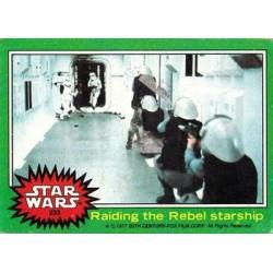 1977 Topps Star Wars RAIDING THE REBEL STARSHIP #233 EX/MT