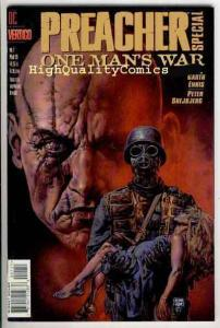 PREACHER ; ONE MAN'S WAR #1, NM-, Garth Ennis, Vertigo, 1998, Glenn Fabry
