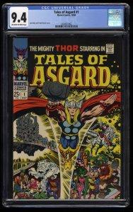 Tales of Asgard #1 CGC NM 9.4 Off White to White Thor!
