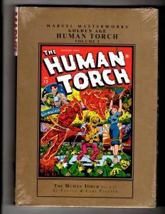 Golden Age Human Torch V3 SEALED Marvel Comics HARDCOVER Graphic Novel Book J335