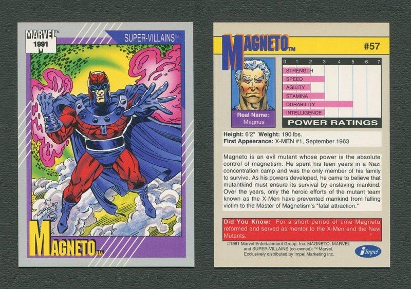 1991 Marvel Comics II  Card  #57 ( Magneto )  MINT