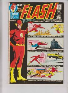 Flash #205 VF- bronze age dc comics - reverse flash - giant G-82 kid flash