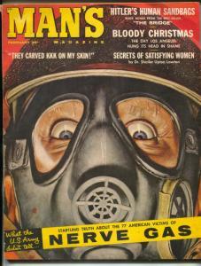 Man's Magazine February 1961- Hitler's Human Sandbags VG/F