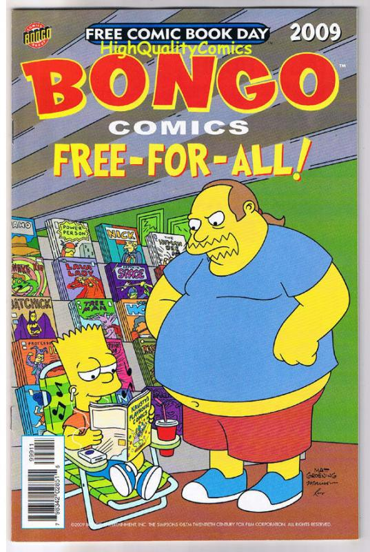 BONGO COMICS FREE-FOR-ALL, Futurama, FCBD,2009, NM