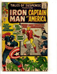 Tales Of Suspense #60 FN- Marvel Comic Book Iron Man Captain America Hawkeye FH2