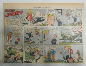 Flying Jenny Sunday Page by Keaton from 2/16/1941 Size: 11 x 15 inches Spanking!