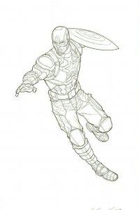 Captain America Original Art Steve Kurth INFINITY WAR DESTINY ARRIVES END GAME
