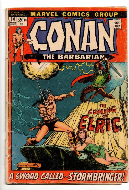 Conan the Barbarian #14 (Marvel, 1972) GD/VG