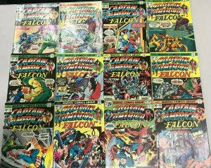 CAPTAIN AMERICA#184-206 VG-VF LOT (12 BOOKS) 1975 MARVEL BRONZE AGE COMICS