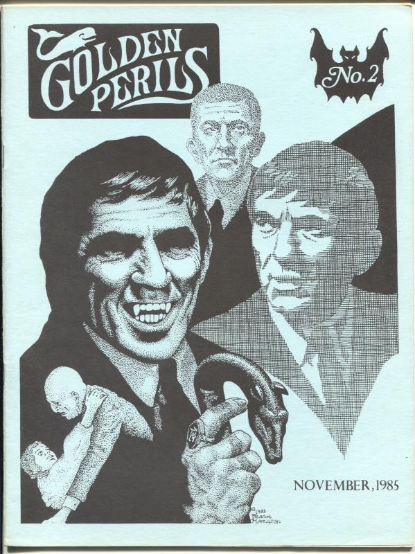 Golden Perils #2 1985-Howard Hopkins-Dark Shadows-Doc Savage-Blue beetle-VF