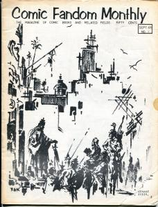 Comic Fandom Monthly #1 1971-1st issue-Roy Krenkel-David T Allexander-VG-