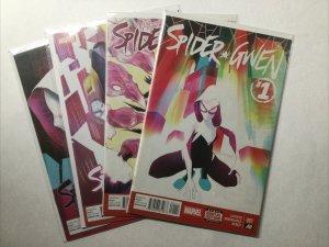Spider Gwen 1 2 4 5 Lot Run Set Near Mint- Nm- 9.2 Marvel