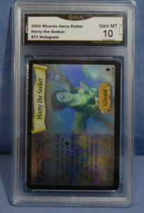 2002 Harry Potter TCG Harry The Seeker #11 Hologram Rare Card - Graded MINT 10
