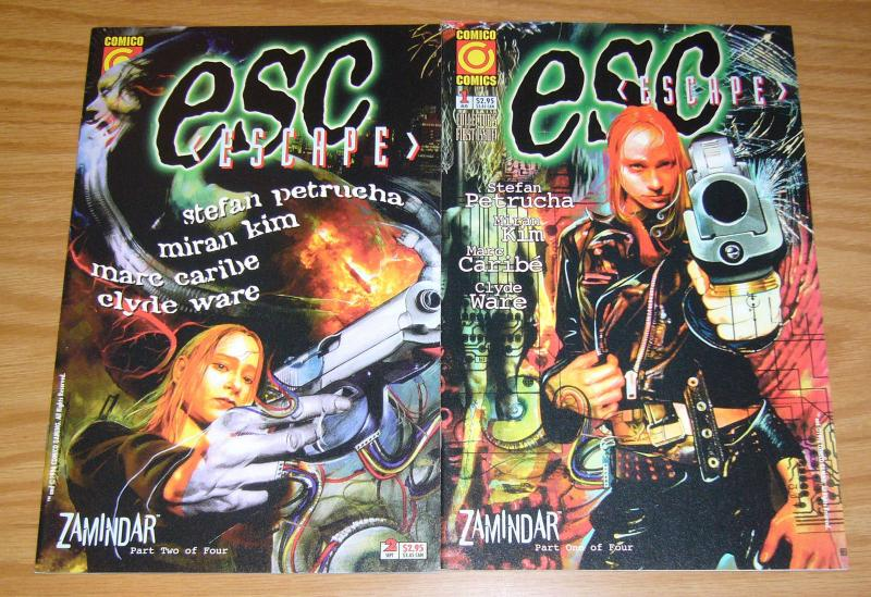 ESC #1-2 VF/NM complete series - comico comics escape - stefan petrucha - 1996