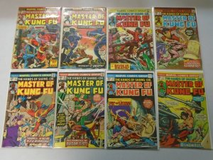 Master of Kung Fu lot 16 different 25c covers from #18-34 avg 5.0 VG FN (1974-76