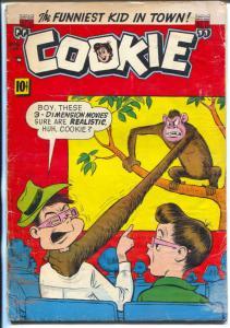 Cookie #46 1953-ACG-3-D monkey cover- teen humor-G