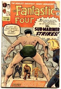 FANTASTIC FOUR #14 1963- sub-mariner crossover- MARVEL SILVER AGE -g/vg