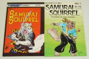 Samurai Squirrel #1-2 VF/NM complete series  for fans stan sakai's usagi yojimbo