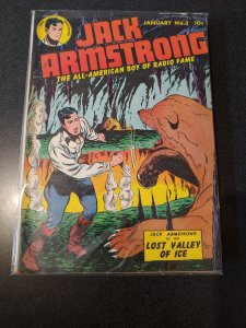 ​JACK ARMSTRONG #3 GOLDEN AGE CLASSIC 1949 FINE +