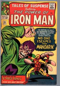 TALES OF SUSPENSE #55 1964-IRON MAN/MANDARIN-MARVEL-VG plus VG+