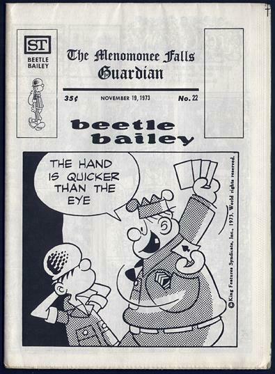 MENOMONEE FALLS GUARDIAN 22 CAPTAIN EASY 1973 ALLEY OOP