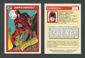 1990 Marvel Comics Card  #4  (Daredevil)  NM-MT
