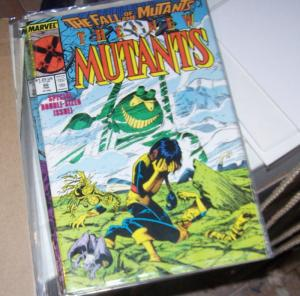 NEW MUTANTS  #  60  1987 fall of the mutants x men cameron hodge cypher dies !