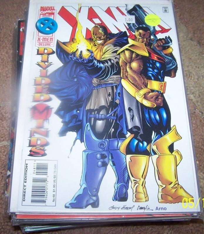 X MEN # 48 1996 marvel  bishop+ divided minds. xmen mutants future