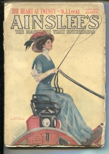 Ainslee's 11/1908-Clarence F. Underwood-early pulp fiction-Early automobile a...