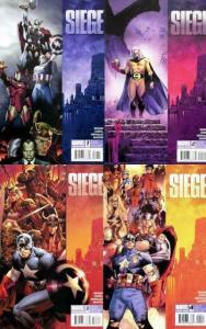 SIEGE (2010) 1-4  Avengers, Loki, Bendis complete