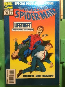 Amazing Spider-Man #388 metallic/reflective cover