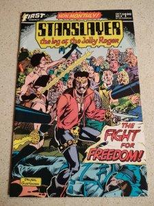 Starslayer #9 VF first comics - grimjack illustrations pre-dates starslayer 10