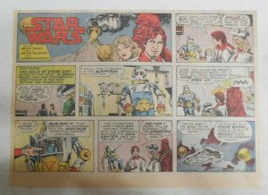 Star Wars Sunday Page by Alfred Alcala from 10/26/1980 Large Half Page Size!