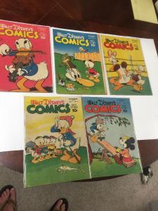 Walt Disney's Comics And Stories 71 (4.0) 72 (4.0) 73 (3.5) 74 (3.5) 75 (4.0)
