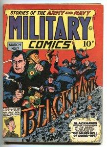 Military Comics #17 1944- BLACKHAWK- WWII P.T. BOAT FN-