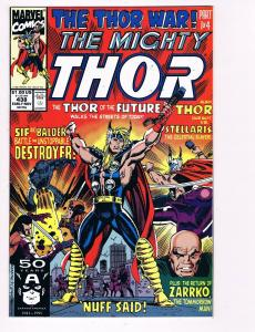 The Mighty Thor # 438 Marvel Comic Books Hi-Res Scan Modern Age Awesome Issue S7