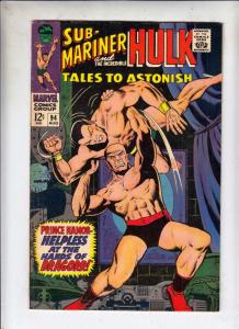 Tales to Astonish #94 (Aug-67) FN Mid-Grade Incredible Hulk, Namor