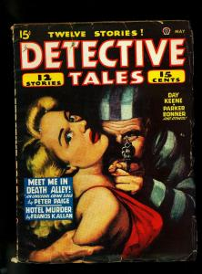 Detective Tales Pulp May 1947- Wild Good Girl art cover- DL Champion- VG