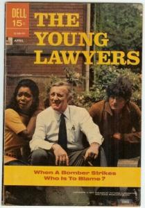 YOUNG LAWYERS (1971 DELL) 2 VF photo cover: Lee J Cobb COMICS BOOK