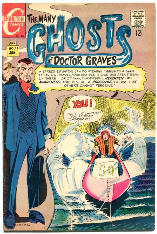 MANY GHOST of DOCTOR GRAVES #11, VG/FN, Horror, 1967, more Charlton in store