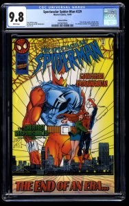 Spectacular Spider-Man #229 CGC NM/M 9.8 White Pages Deluxe Edition!