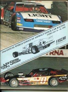 New Smyrna Speedway World Series of Asphalt Auto Race Program 2/1989-ASA-ARTG...