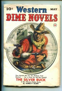 WESTERN DIME NOVELS-#1-MAY 1940-PULP FICTION-SOUTHERN STATES PEDIGREE-fn+