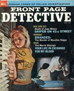 FRONT PAGE DETECTIVE-02/1965-SNIPER'S-MORRIS SLAYINGS-LOVE THAT KILLS VG/FN