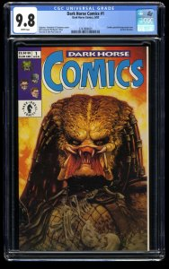 Dark Horse Comics #1 CGC NM/M 9.8 White Pages 1992