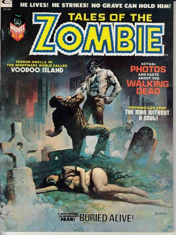 TALES OF THE ZOMBIE MAGAZINE #2 (1973) MARVEL COMICS VERY FINE (8.0) SIMON GARTH