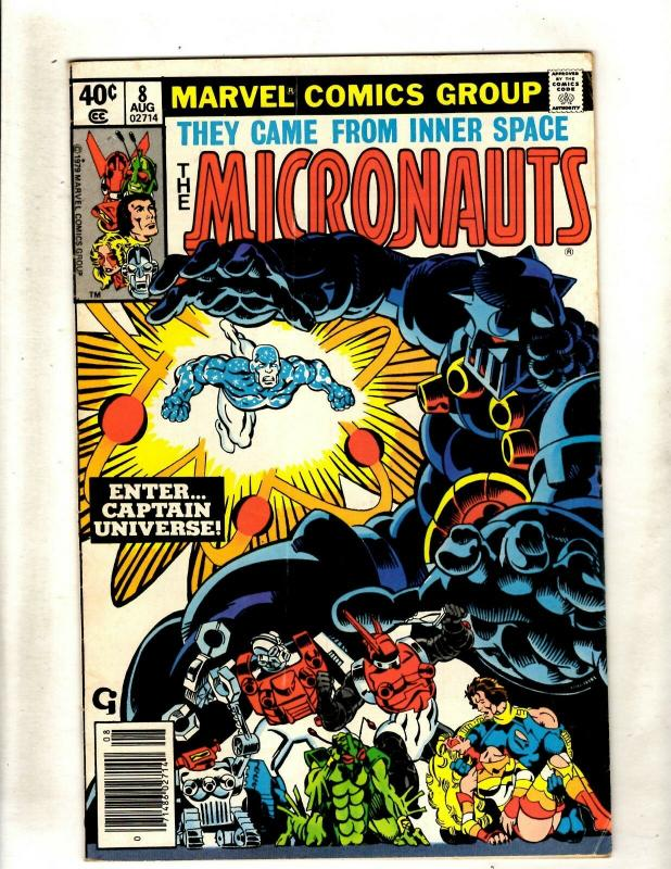 Micronauts # 8 FN/VF Marvel Comic Book Captain Universe Appearance WS9