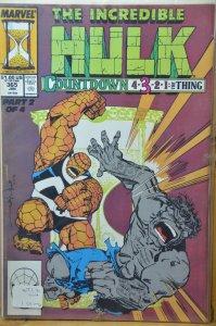 The Incredible Hulk #365 (1990) Thing vs Hulk !