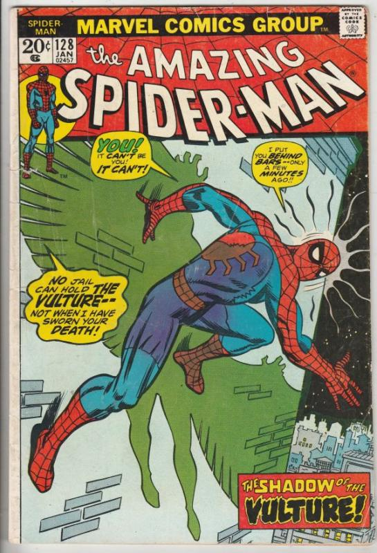 Amazing Spider-Man #128 (Jan-74) FN Mid-Grade Spider-Man